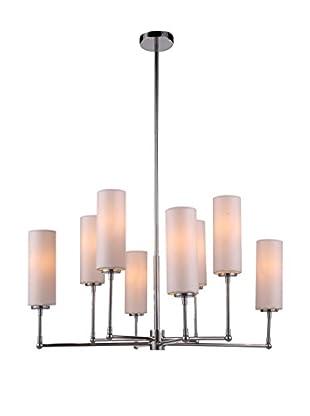 Urban Lights Richmond 8-Light Pendant Lamp, Polished Nickel