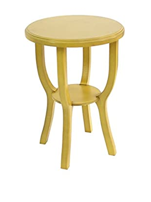 Teton Home Wooden Stool, Yellow