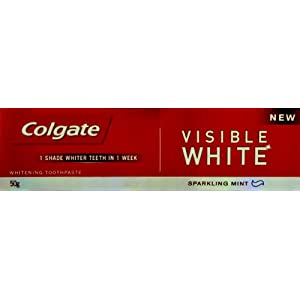 Colgate Toothpaste Visible White Sparkling Mint - 50 g (Whitening)