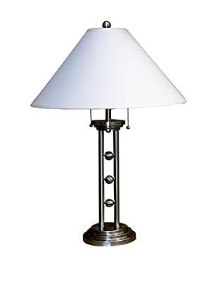 ORE International Triple Ball Metal Table Lamp, Silvertone