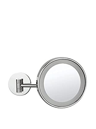 Nameeks Wall Mounted Single Face 3X Makeup Mirror w/ LED, Chrome Finish