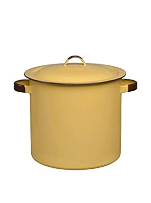 Cinsa 12-Qt. Steamer Pot With Lid And Rack (Yellow)