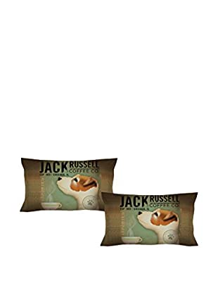 LITTLE FRIENDS by MANIFATTURE COTONIERE Kopfkissenbezug 2er Set Jack Russell