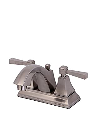 Kingston Brass Centerset Lavatory Faucet With Brass/Abs Pop-Up, Satin Nickel