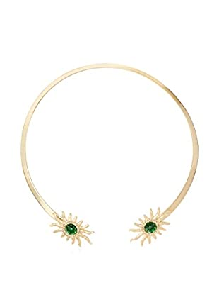 Daniela Swaebe Ancient Sun Faceted Emerald Crystal Collar Necklace