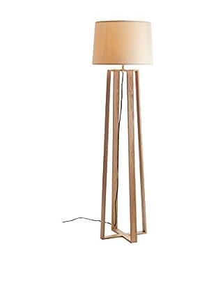 Lámpara De Pie Arco Madera Haya