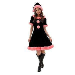 プリティーサンタ(ブラック&ピンク)
