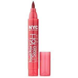 New York Color Smooch Proof Lip Stain Forever Fuchsia 0.1 Fluid Ounce