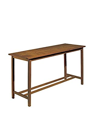Oxford Garden Dartmoor Long Bar Table, Natural/Brown Umber