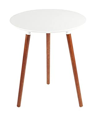 Control Brand The Mid Century Giulia End Table, White
