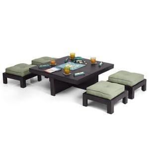 Kivaha Coffee Table Set with Upholestry