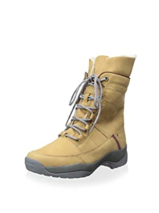 Burnetie Women's Lace Up Shearling Ankle Boot