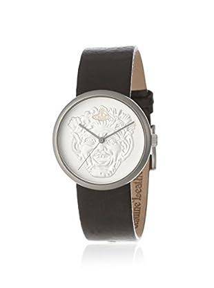 Vivienne Westwood Unisex VV021SLBR Neptune Brown/Silver Leather Watch
