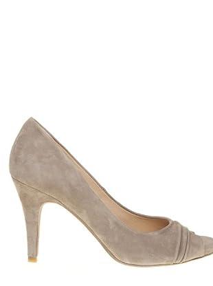Paco Herrero Zapatos Peep Toe (Gris perla)
