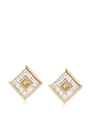 Melinda Maria Blake Gold White CZ Stud Earrings