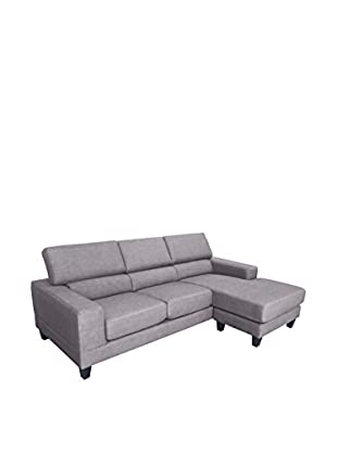 DG Casa Torino Sectional Sofa, Brown