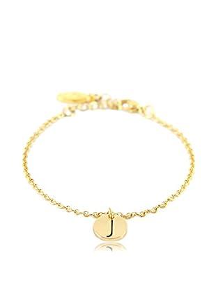 Ettika 18K Gold-Plated J Initial Chain Bracelet