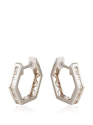 GOLD& DIAMONDS Pendientes oro blanco 18 ct