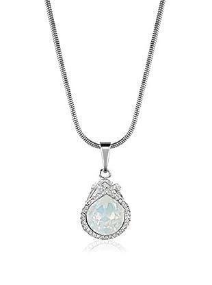 Absolute Crystals Conjunto de cadena y colgante Caged Pear Grisáceo