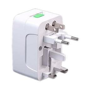 Universal International Adaptor All in One Travel Power Plug Adapter Surge