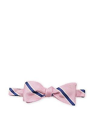 Bruno Piattelli Men's Striped Bow Tie, Pink