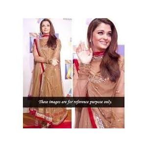 Bollywood Aishwarya Brown Anarkali Suit
