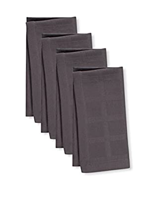 KAF Home Set of 4 Solid Napkins, Pewter