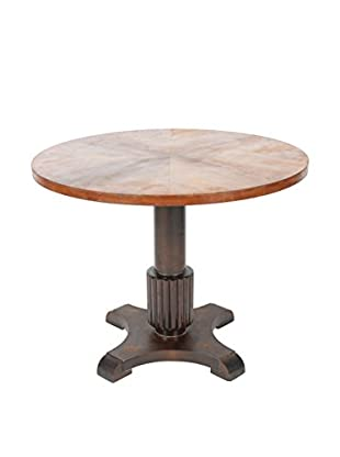 Biedermeier Style Mahogany Library Table, Brown