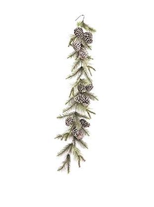 Napa Home & Garden Vintage-Inspired Glitter Pine Garland, Platinum