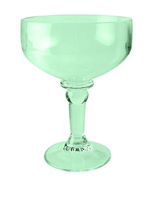 Firenze Acrylic Margarita Glass, Green