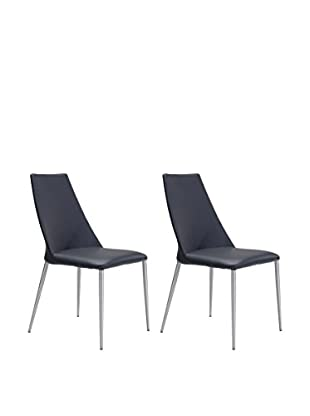 Zuo Set of 2 Whisp Chairs