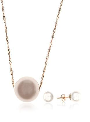 Córdoba Jewels Conjunto de collar y pendientes plata de ley 925 milésimas