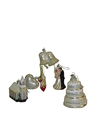 Kurt Adler Noble Gems 6-Piece Wedding Ornament Gift Box Set