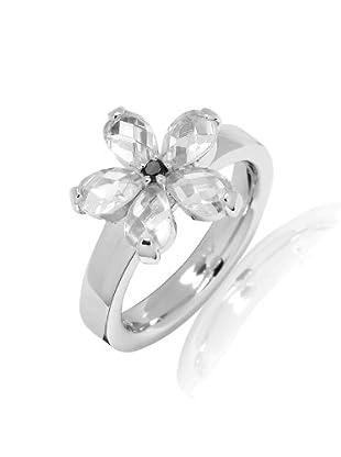 Nahla Jewels Ring Sterling Silber Zirkonia (weiß/schwarz)