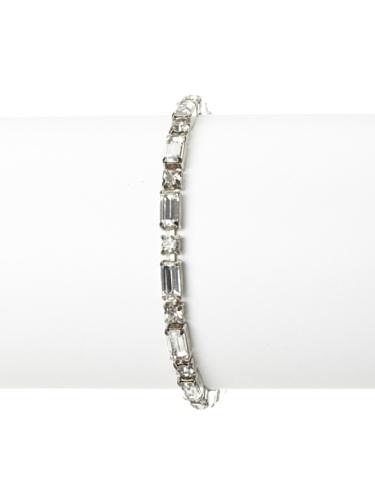 Lulu Frost 1920's Art Deco Emerald-Cut Bracelet, Silver