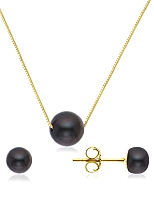 Pearls & Colors Set Collier und Ohrringe