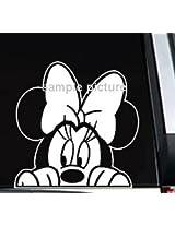 Sticker decal car window sticker car truck peek Disney Minnie Mouse (parallel import goods) (japan i