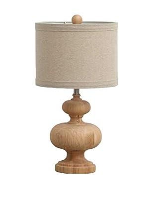 Solid Wood Table Lamp, Natural/Tan