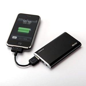 USB バッテリー充電器 iPhone 4 3GS 3G iPod dexim BluePack S8 3000mAh