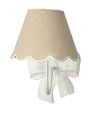 Home Ideas Lámpara De Pared Applique Fiocco Con Cappello Smerlato Blanco/Beige