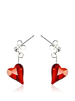 So Charm with Crystals from Swarovski Pendientes  Rojo