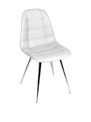 Glam Home Stuhl 2er Set Devon weiß
