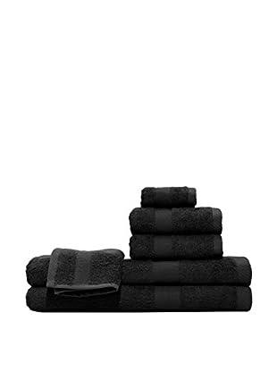 Pure Fiber 6-Piece Viscose from Bamboo Bath Towel Set, Brownish Black