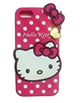 AE Cute Hello Kitty Silicone With Pendant Back Case Cover For Iphone 6/6S PINK
