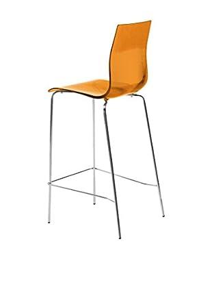 Domitalia Tall Gel Chair, Transparent Orange