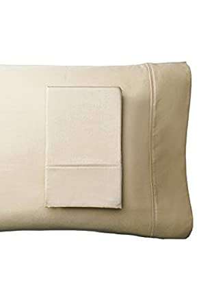 Westport Linens Set of 2 Wrinkle Free Standard Pillowcases, Taupe