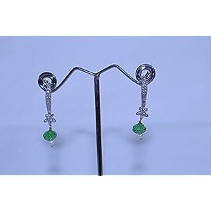 eNV Green crystal pearl drops Earring