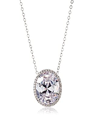 CZ by Kenneth Jay Lane Oval CZ Pendant Chain Necklace
