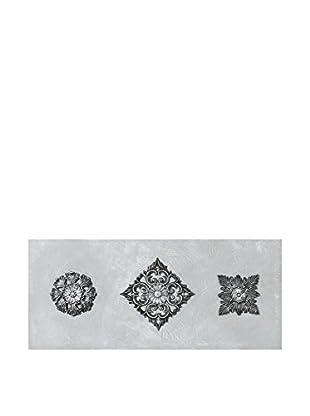 Concept Luxury Wandbild Flower silber/grau