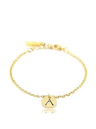 Ettika 18K Gold-Plated A Initial Chain Bracelet
